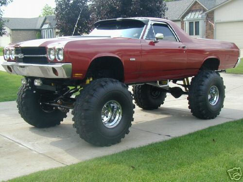 I know what you're thinking. I totally need to lift my El Camino. I was thinking that too. I'm glad you agree